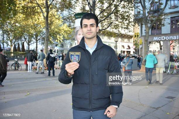 Osama Joda, a 23-year-old Palestinian, who risked his life to help a police officer who was shot by a terrorist in Viennaâs city center, speaks...