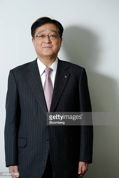 Osamu Masuko incoming chairman and chief executive officer of Mitsubishi Motors Corp poses for a photograph at the company's headquarters in Tokyo...