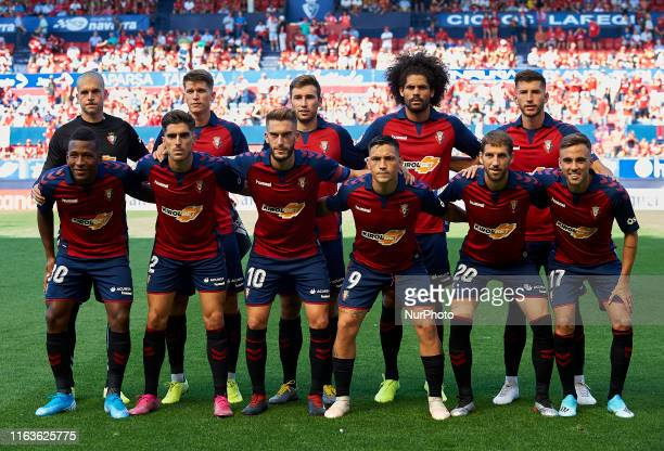 Osasuna line up Ruben MartinezMarc Cardona Jon Moncayola Aridane Hernandez David Garcia Pervis Estupinan Nacho Vidal Roberto Torres Chimy Avila Darko...