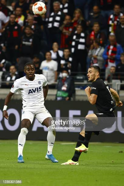 Osayi Samuel of Fenerbahce in action during the UEFA Europa League group D match between Eintracht Frankfurt and Fenerbahce at Deutsche Bank Park on...