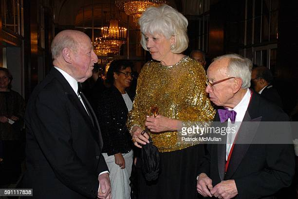 Osborn Elliott Alexandra Schlesinger and Arthur Schlesinger attend The 30th Anniversary New Yorker for New York Awards at The Waldorf Astoria on...