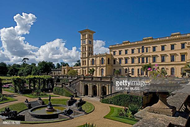 Osborne House built between 18451851 in Italian Renaissance style as Queen Victoria's summer residence Cowes Isle of White United Kingdom