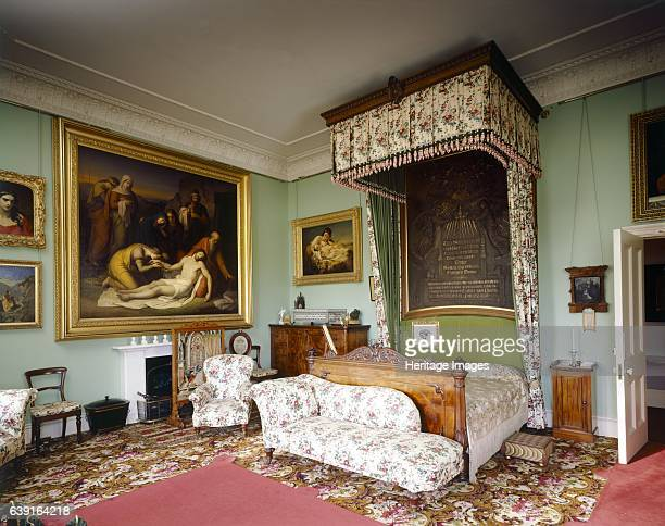 Osborne House, Isle of Wight, c1990-2010. Interior view of Queen Victoria's Bedroom looking toward the bed. Some items shown maybe on loan from the...