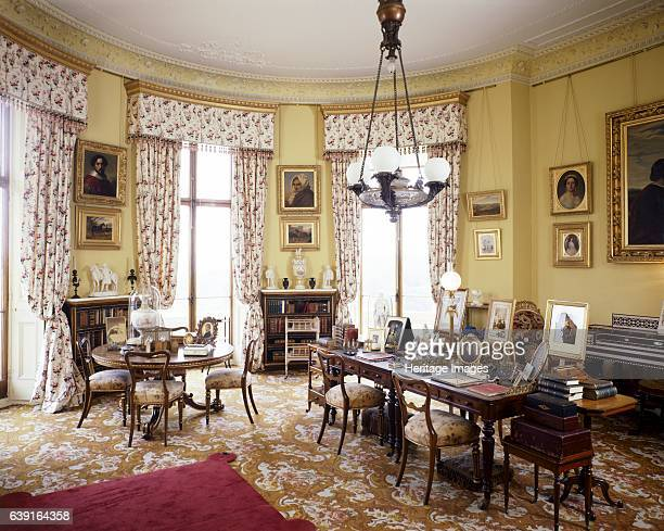 Osborne House Isle of Wight c19902010 View of Queen Victoria's Sitting Room Some items shown maybe on loan from the Royal Collection A former royal...