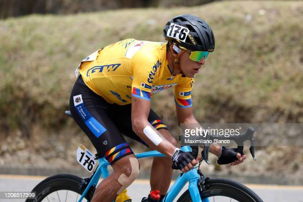 Oscar Adalberto Quiroz Ayala of Colombia and Team Colombia Tierra De Atletas Gw Bicicletas / during the 3rd Tour of Colombia 2020, Stage 5 a 180,5km...