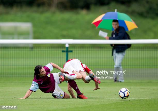Oscar Borg of Aston Villa during the Premier League 2 match between Aston Villa and Stoke City at Bodymoor Heath on August 21 2017 in Birmingham...