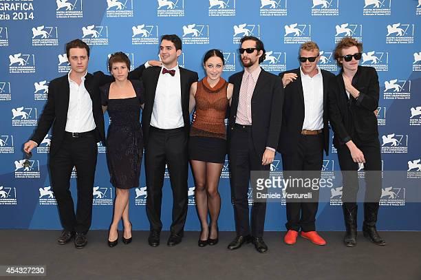 Oscar Boyson a guest director Ben Safdie actress Arielle Holmes director Joshua Safdie producer Sebastian BearMcClard and actor Caleb Landry Jones...