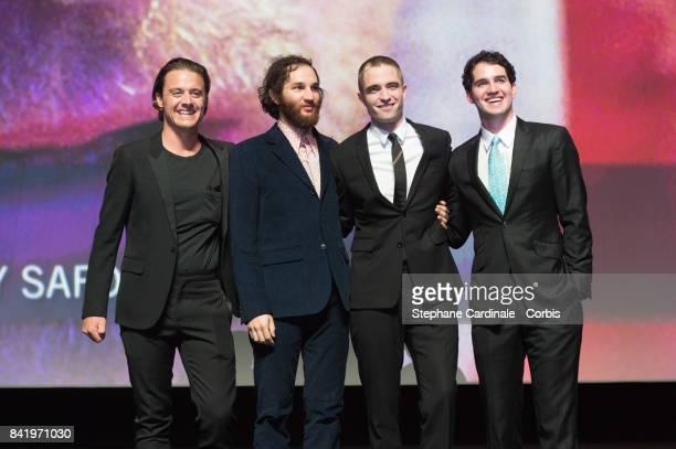 Oscar Boyson Joshua Safdie Robert Pattinson and Ben Safdie during the Achievement Tribute Award Ceremony to Robert Pattinson and 'Good Time' Premiere...