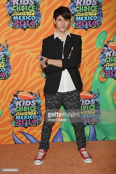 Oscar Burgos Jr attends the Nickelodeon Kids' Choice Awards Mexico 2014 at Pepsi Center WTC on September 20 2014 in Mexico City Mexico