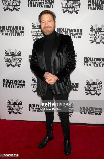 Oscar Cardenas arrives at A Dark Foe Film Premiere on February 15 2020 in Los Angeles California