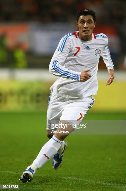 Oscar Cardozo Marin of Paraguay during the International Friendly match between Netherlands and Paraguay at the Abe Lenstra Stadium on November 18,...