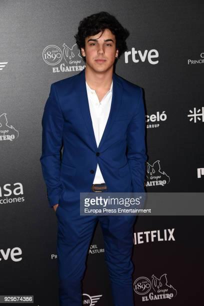 Oscar Casas attends 'Bajo la Piel del Lobo' premiere at Callao cinema on March 8 2018 in Madrid Spain