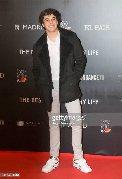 Oscar Casas attends 'The Best Day Of My Life' Madrid premiere at Callao cinema on March 13 2018 in Madrid Spain