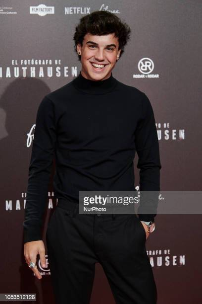 Oscar Casas attends the 'El Fotografo de Mauthausen' premiere photocall at Callao Cinema in Madrid on October 25 2018