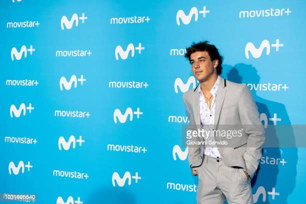 Oscar Casas attends Upfront Movistar Blue Carpet at Reina Sofia Museum on September 11 2018 in Madrid Spain