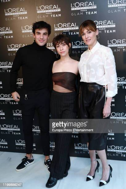 Oscar Casas, Greta Fernandez and Marta Nieto, nominees to Feroz Awards, attend a presentation by GLAM team L'Oreal ahead of the Feroz Awards on...