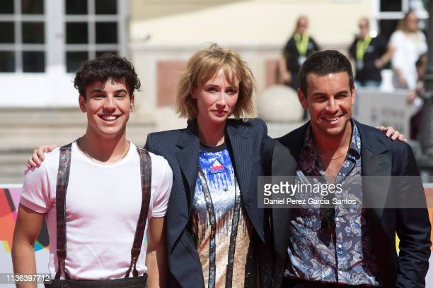 Oscar Casas Ingrid GarciaJonsson and Mario Casas attend 'Instinto' photocall during the 22nd Malaga Film Festival on March 17 2019 in Malaga Spain