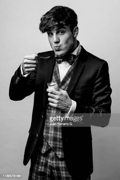 Oscar Casas poses for a portrait session at Teatro Cervantes during 22nd Spanish Film Festival of Malaga on March 17 2019 in Malaga Spain