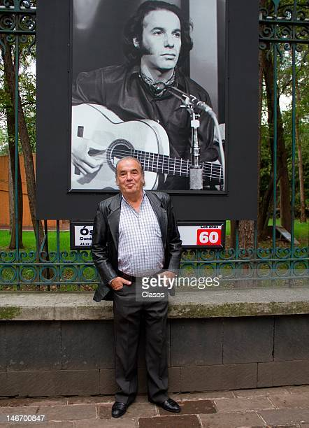 Oscar Chavez attends a photo exhibition for the 60 anniversary of the Auditorio Nacional on june 22 2012 Mexico City Mexico