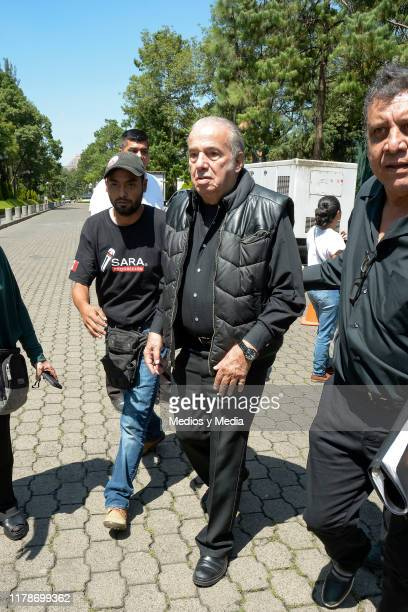 Oscar Chavez walks toward the exit after the show to commemorate the 1968 Tlatelolco Massacre at Centro Cultural Los Pinos on October 2 2019 in...