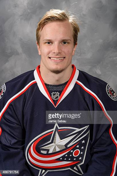 Oscar Dansk of the Columbus Blue Jackets poses for his official headshot for the 20142015 season on September 18 2014 at the Nationwide Arena in...