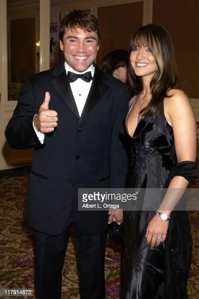 Oscar De La Hoya and wife Millie during Oscar De La Hoya's Evening of Champions at The Regent Beverly Wilshire Hotel in Beverly Hills California...
