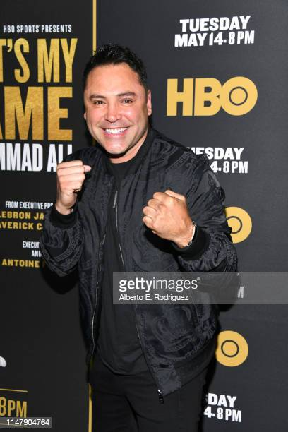 """Oscar De La Hoya at the premiere of HBO's """"What's My Name: Muhammad Ali"""" at Regal Cinemas L.A. LIVE Stadium 14 on May 08, 2019 in Los Angeles,..."""