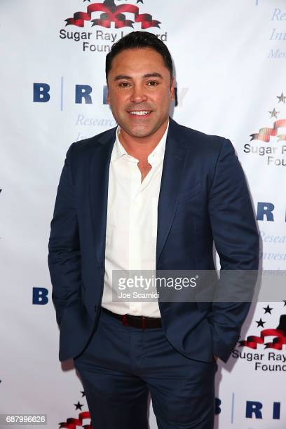 Oscar De La Hoya attends the 8th Annual Big Fighters Big Cause Charity Boxing Night at the Loews Santa Monica Beach Hotel on May 24 2017 in Santa...