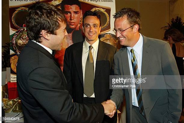 """Oscar De La Hoya Hank Azaria Matthew Perry during Oscar De La Hoya to Host """"Evening of Champions"""" at Regent Beverly Wilshire Hotel in Beverly Hills,..."""