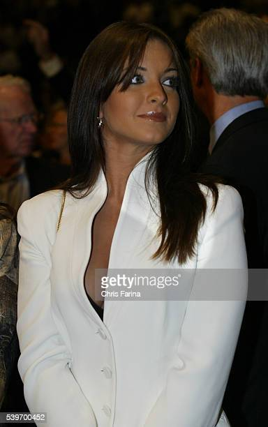 Oscar de la Hoya's wife Millie attends his fight against Sugar Shane Mosley at the MGM Grand Hotel