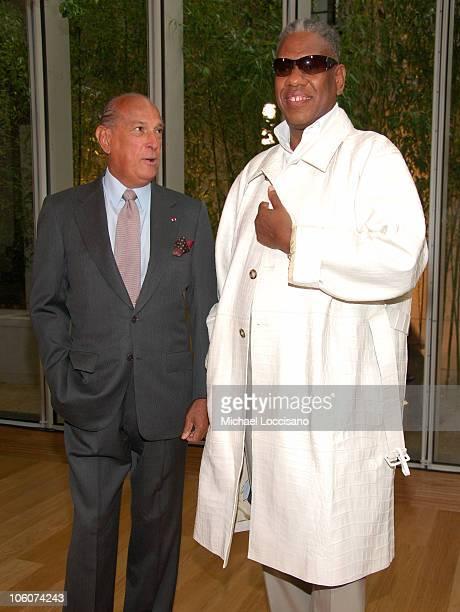 Oscar de la Renta and Andre Leon Talley during Oscar de la Renta Resort Collection Fashion Show Front Row at Morgan Library in New York City New York...