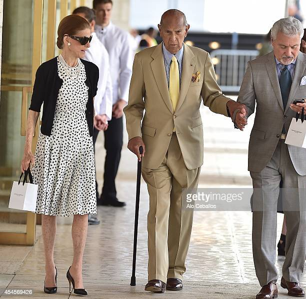 Oscar de la Renta and Annette de la Renta are seen in Midtown on September 3 2014 in New York City