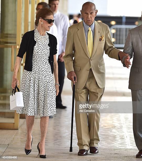 Oscar de la Renta and Annette de la Renta are seen in Midtown on September 3 2014 in New York City