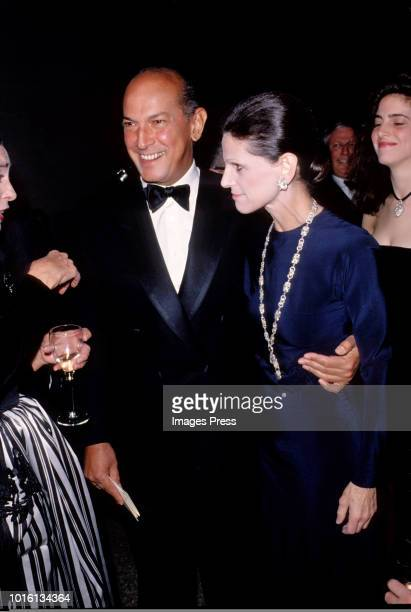 Oscar De La Renta and Annette de la Renta at the American Designers Awards circa 1990 in New York