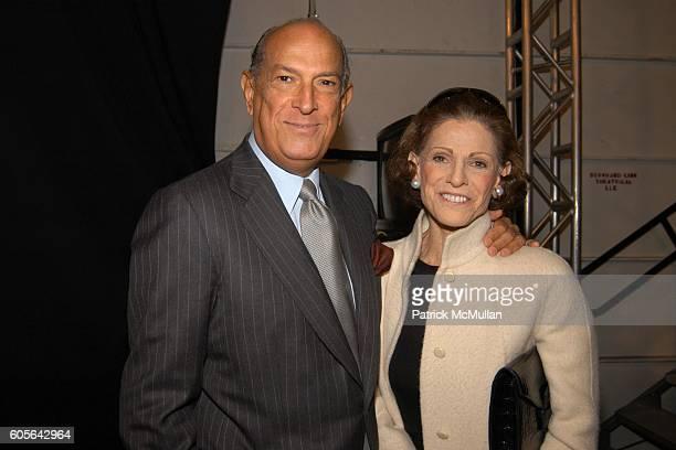 Oscar de la Renta and Annette de la Renta attend Oscar de la Renta Fall Fashion 2006 at The Tent at Bryant Park on February 6 2006 in New York