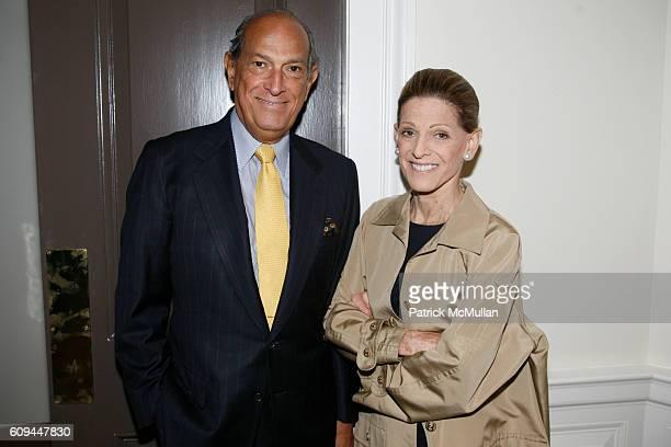 Oscar de la Renta and Annette de la Renta attend OSCAR DE LA RENTA Resort 2008 at 583 Park Avenue on June 4 2007 in New York City