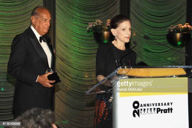 Oscar de la Renta and Annette de la Renta attend PRATT'S 20th Anniversary of Black Alumni A Celebration of the Creative Spirit at The Four Seasons...