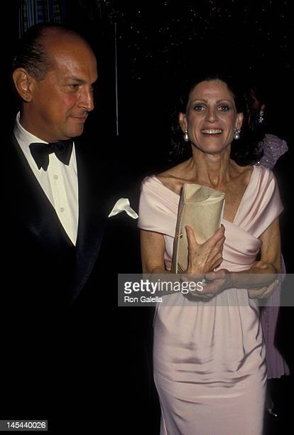 Oscar de la Renta and Annette Reed attend 70th Anniversary Party for Forbes Magazine on May 28 1987 at Timberland Hills in Fair Lawn New Jersey