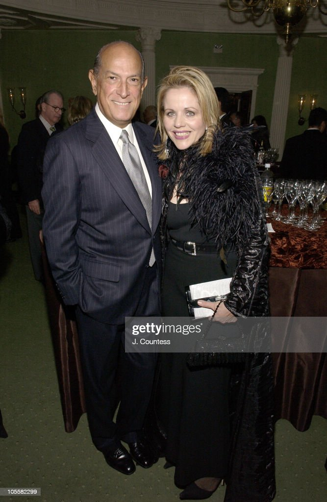 Oscar de la Renta and Renee Fleming during Renee Fleming Book Release Party - 'The Inner Voice: The Making of a Singer' at The Georgian Suite in New York City, New York, United States.