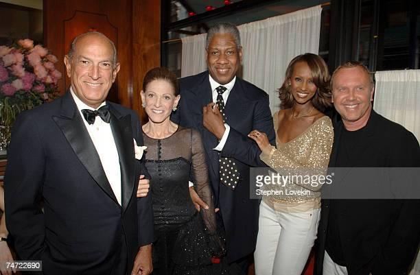 Oscar De la Renta Annette De la Renta Andre Leon Talley Iman and Michael Kors at the La Grenouille in New York City NY