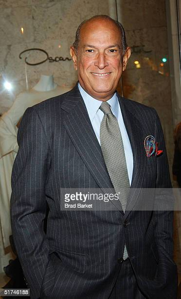 Oscar de la Renta arrives at the newly opened Oscar de la Renta Boutique on November 15 2004 in New York City