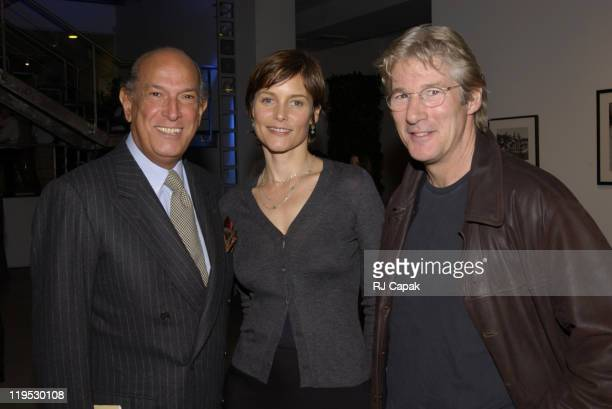 Oscar de la Renta Carey Lowell and Richard Gere during Vogue Magazine Hosts Photography Auction to benefit God's Love We Deliver at The Chelsea Art...