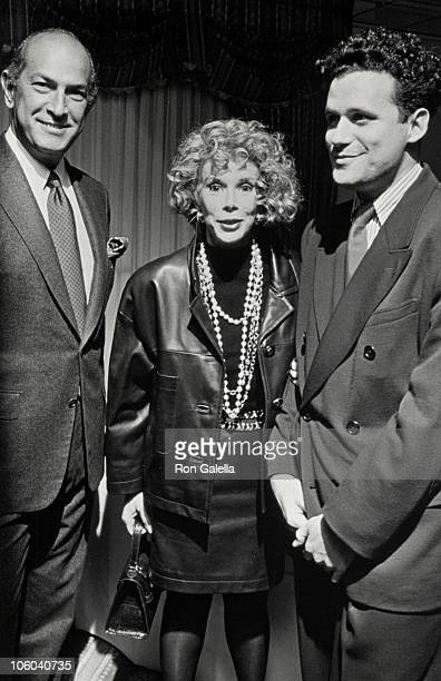 Oscar de la Renta, Joan Rivers and Isaac Mizrahi during Dallas Apparel Mart's 1990 Femme Award for American Style at Carlyle Hotel in New York City,...