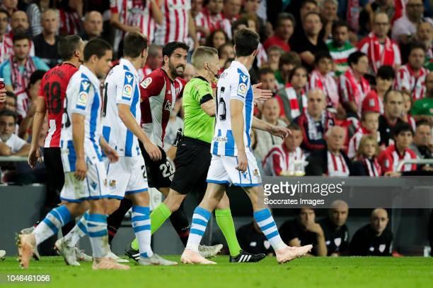Oscar de Marcos of Athletic Bilbao Luca Sangalli of Real Sociedad Jon Bautista of Real Sociedad Raul Garcia of Athletic Bilbao Alejandro Jose...