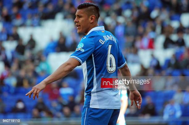 Oscar Duarte during the match between RCD Espanyol and Depoortivo Alaves for the round 30 of the Liga Santander played at the RCD Espanyol Stadium on...