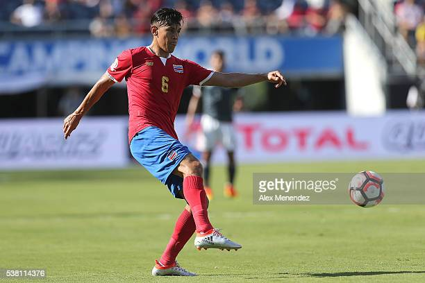 Oscar Duarte of Costa Rica makes a pass during the 2016 Copa America Centenario Group A match between Costa Rica and Paraguay at Camping World...