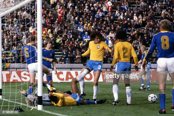 Oscar during the match between Brazil and Sweden played at Mar Del Plata Argentina on June 3rd 1978