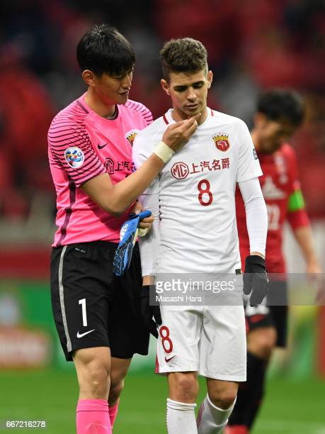 Oscar Emboaba Junior of Shanghai SIPG looks on after the AFC Champions League Group F match between Urawa Red Diamonds and Shanghai SIPG FC at...