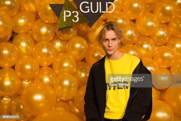 Oscar Enestad of FOO arrive at the P3 Guld Gala Swedish Radio's celebration of the best in Swedish Music on January 20 2018 at Partille Hallen in...