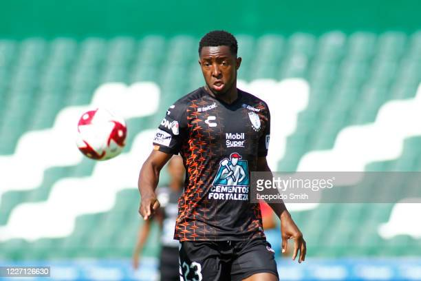Oscar Fabian Murillo on in action during a match between Pachuca and Atletico San Luis as part of the friendly tournament Copa Telcel at Leon Stadium...